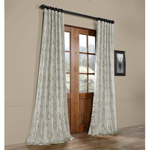 ba9828aa5 Sandee Printed Faux Silk Taffeta Blackout Single Curtain Panel