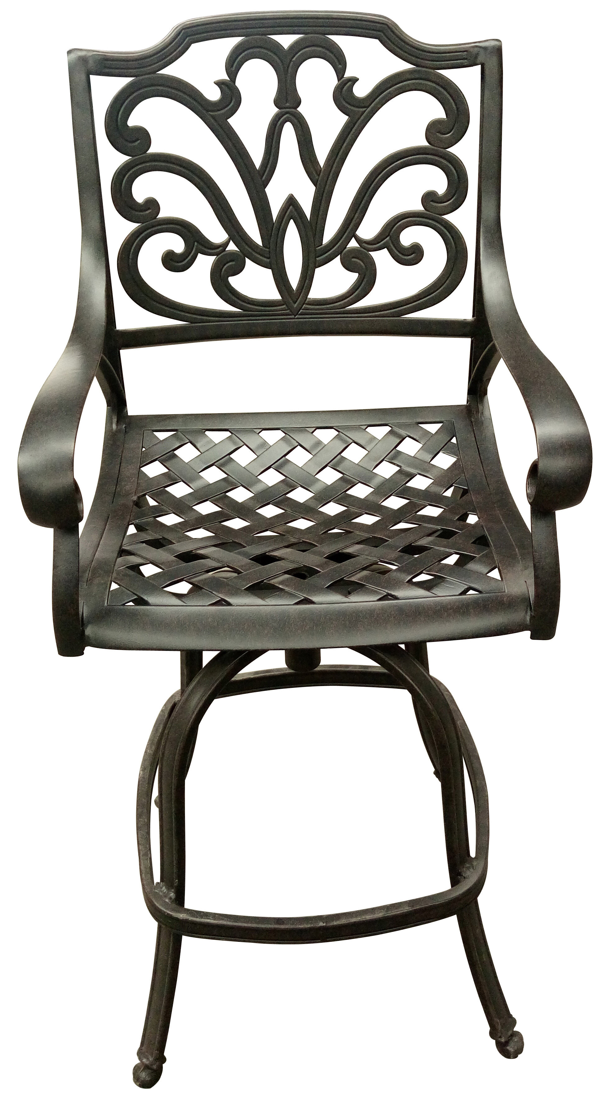 Fantastic Brownridge Outdoor Cast Aluminum 29 5 Patio Bar Stools Set Of 4 Spiritservingveterans Wood Chair Design Ideas Spiritservingveteransorg