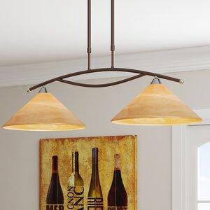 Beecroft 2-Light Glass Shade Kitchen Island Pendant