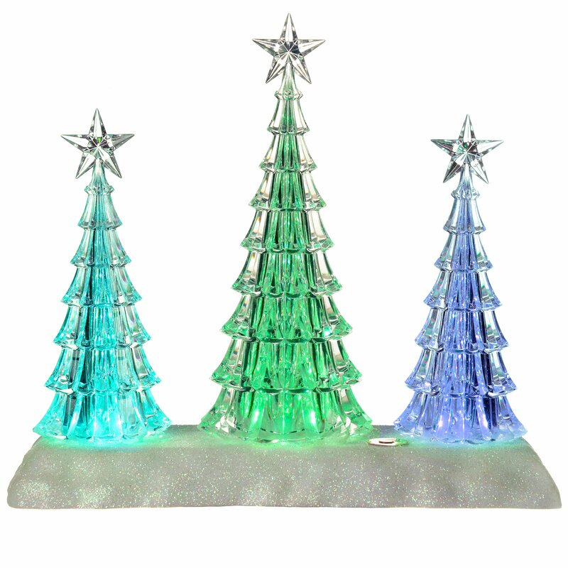 The Seasonal Aisle Acrylic Pre-Lit Colour-Changing LED ...