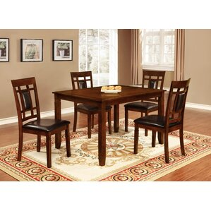 Claudia 5 Piece Dining Set by Roundhill Furniture