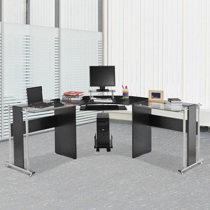 Genial Freeport Modern L Shape Computer Desk