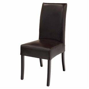 Bartram Genuine Leather Upholstered Dining Chair (Set of 2)