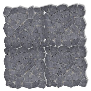 30.5 x 30.5cm Pebble Marble Tiles (Set of 10) by Home Etc