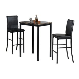 Della 3 Piece Bistro Pub Table Set