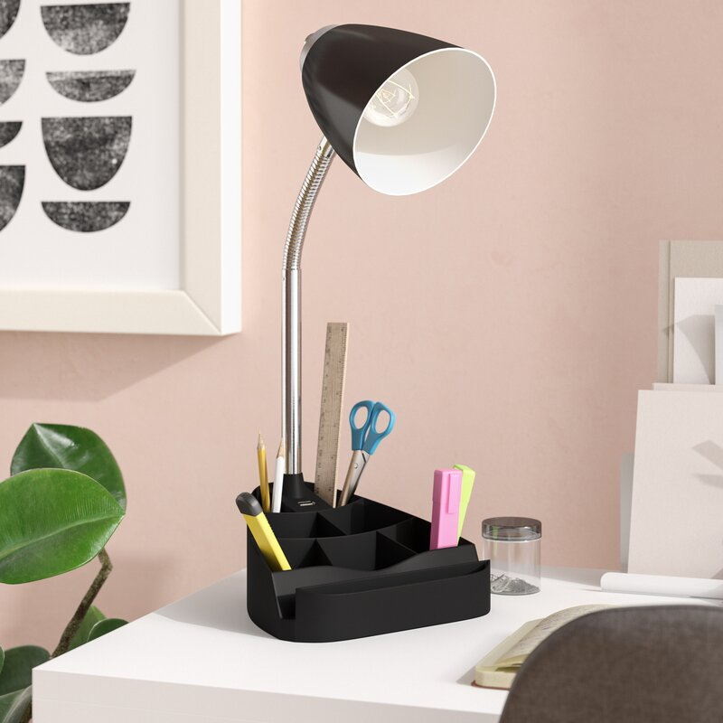 Symple Stuff Usb Port 18 5 Desk Lamp Reviews Wayfair