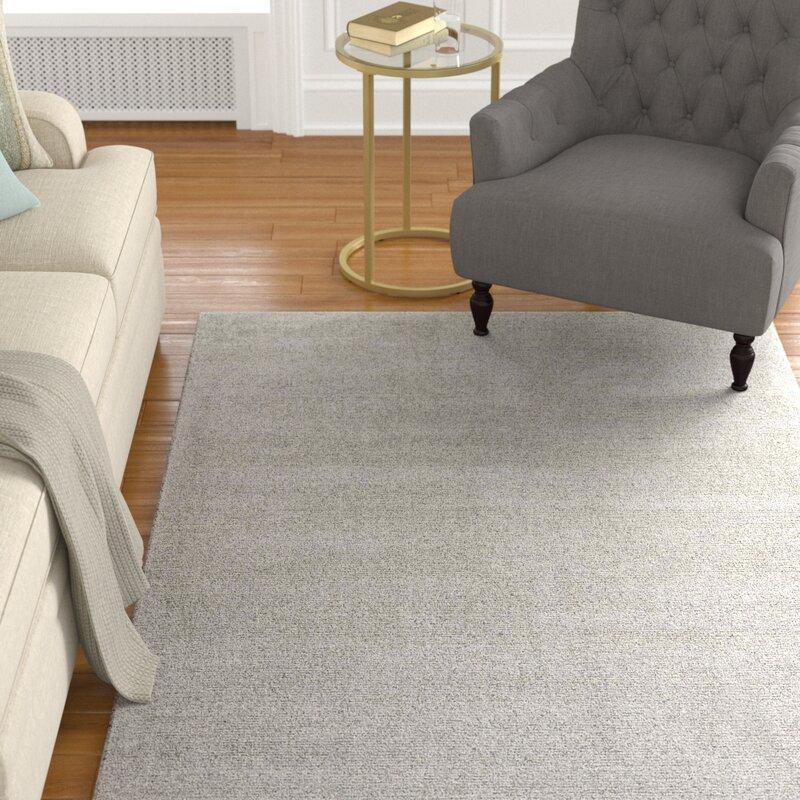 Alcott Hill Windridge Wool Nickel Area Rug, Size: Rectangle 8 x 10