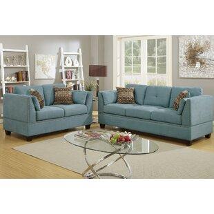 Bobkona Zenda 2 Piece Living Room Set