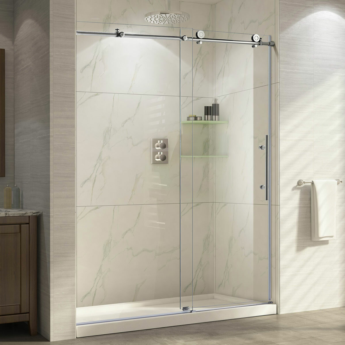 Lesscare Ultra C 48 X 76 Single Sliding Shower Door Reviews