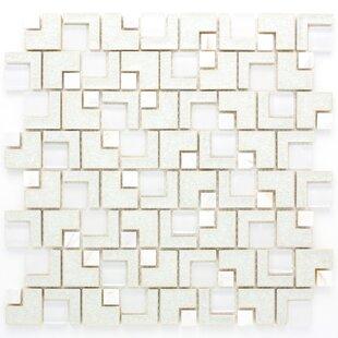 Roman Art Random Sized Metal Mosaic Tile In White