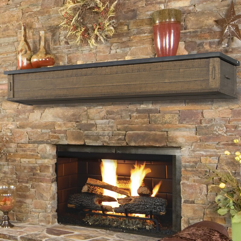 Austin 2 Drawer Storage Fireplace Mantel Shelf Pearl Mantels