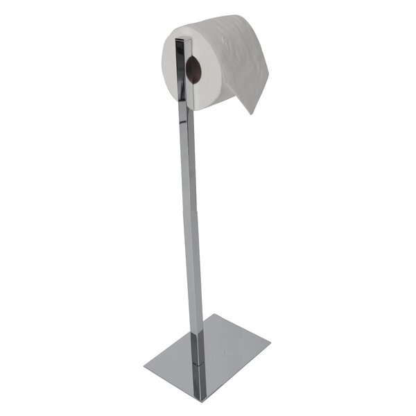 Metal Toilet Paper Stand Part - 43: Valsan Essentials Freestanding Rectangular Base Toilet Paper Holder U0026  Reviews | Wayfair