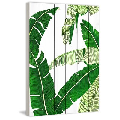Marmont Hill 'Banana II' Painting Print Format: Wood, Size: 60 H x 40 W x 1.5 D