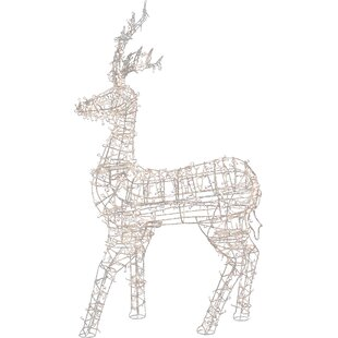 Lighted reindeer wayfair led lighted standing reindeer outdoor christmas decoration aloadofball Image collections