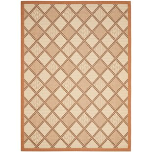 Order Short Cream / Terracotta Indoor/Outdoor Tile Rug By Winston Porter