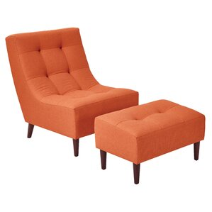 Martha Lounge Chair and Ottoman by Latitude Run