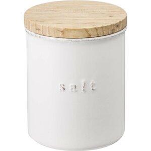 Salt 1.08 qt. Ceramic Kitchen Canister