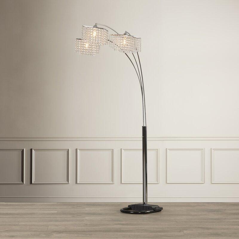 "Willa Arlo Interiors Anatoli 84"" Arched Tree Floor Lamp"