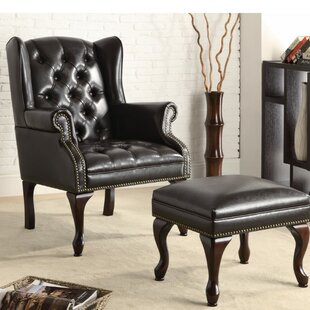 Merveilleux Edmondo Significantly Grand Wingback Chair And Ottoman