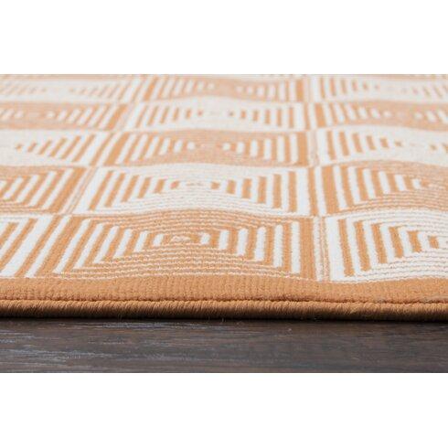 Zipcode design charlotte orange indoor outdoor area rug for Indoor navigation design