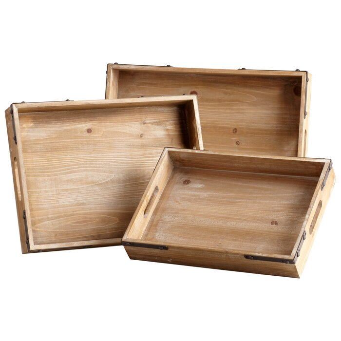 Cool Staton Accent 3 Piece Serving Tray Set Andrewgaddart Wooden Chair Designs For Living Room Andrewgaddartcom
