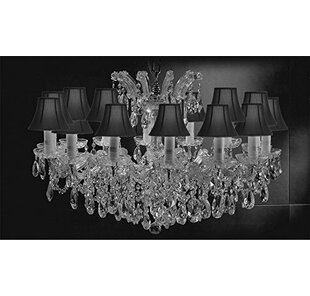 587b042176f33 Alvarado Swarovski 14-Light Crystal Chandelier
