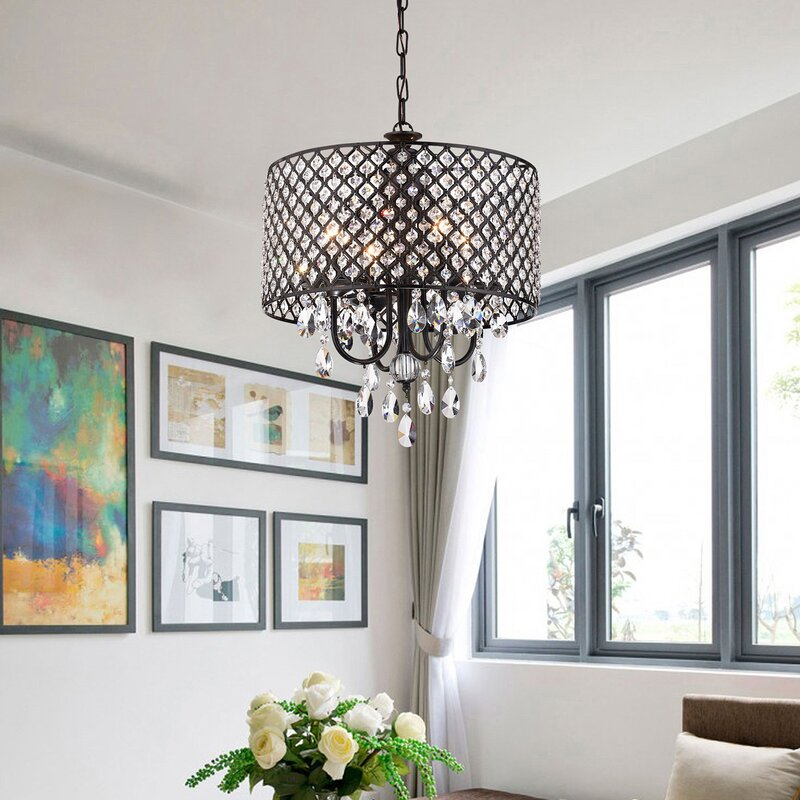 Marya 4 Light Drum Chandelier