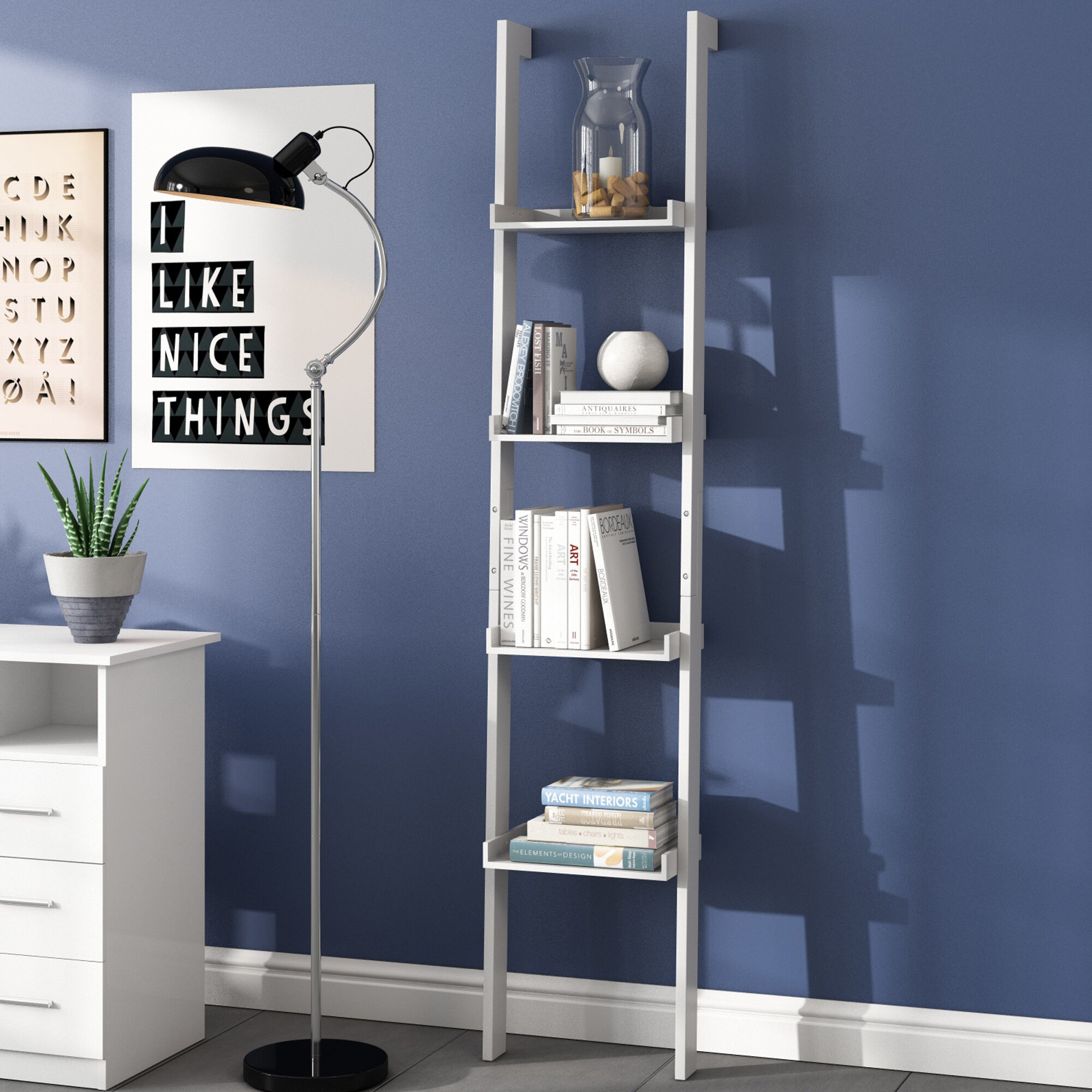 wood surface natural extension en gb made ikea from white with oak bookshelf unit stained height veneer billy collections bookcase blue