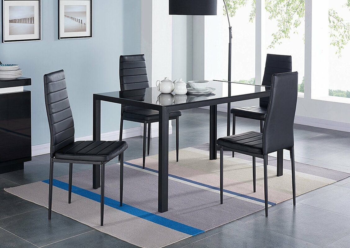 IDSOnlineCorp Compact 5 Piece Dining Set & Reviews
