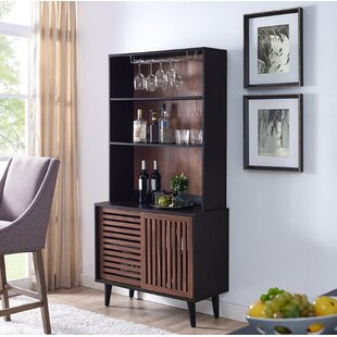 Syren 2 Door Bar Cabinet with Hutch