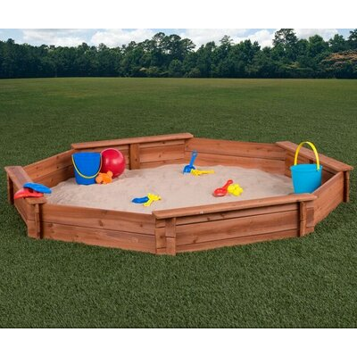6.6u0027 Octagon Sandbox  sc 1 st  Wayfair & KidKraft 5u0027 Rectangular Sandbox with Canopy u0026 Reviews | Wayfair