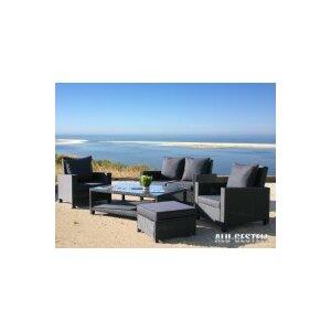 5-tlg. Loungesofa-Set Lanzarote mit Kissen von Grasekamp