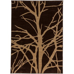 Ruby Tree Branches Contemporary Rug