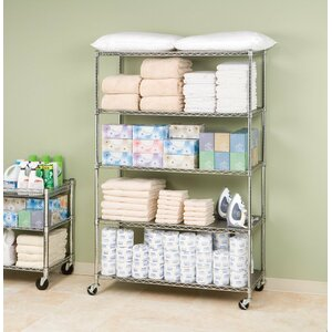 UltraZinc 5-Tier NSF Steel Wire Shelving /w Wheels
