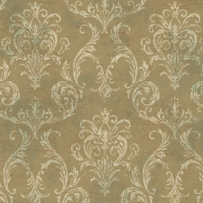Metallic II 27 L X W Damask Wallpaper Roll