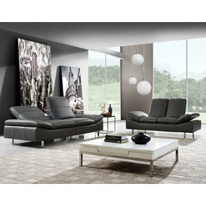Aedan 2 Piece Leather Living Room Set by Wad..