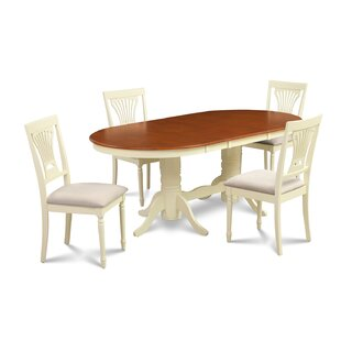 Schacht 5 Piece Extendable Solid Wood Dining Set