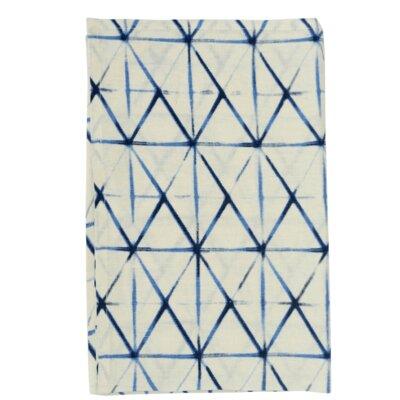 Brayden Studio Shibori Tea Towel  Color: Indigo/Natural