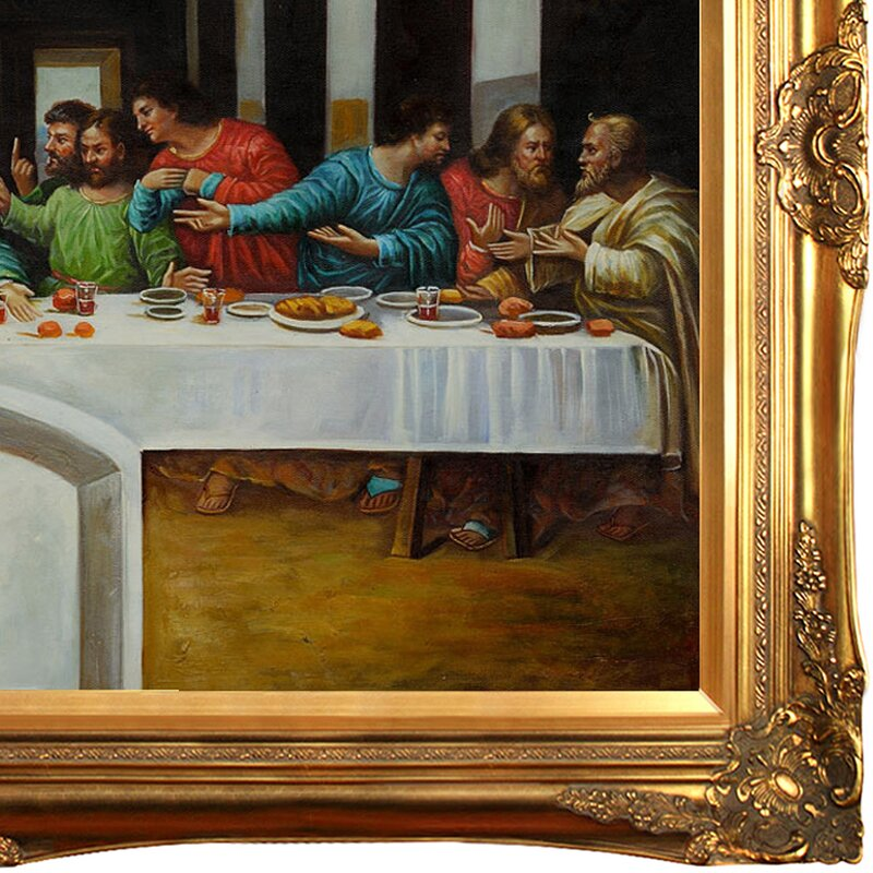 Astoria Grand \'The Last Supper\' by Leonardo Da Vinci Framed Painting ...