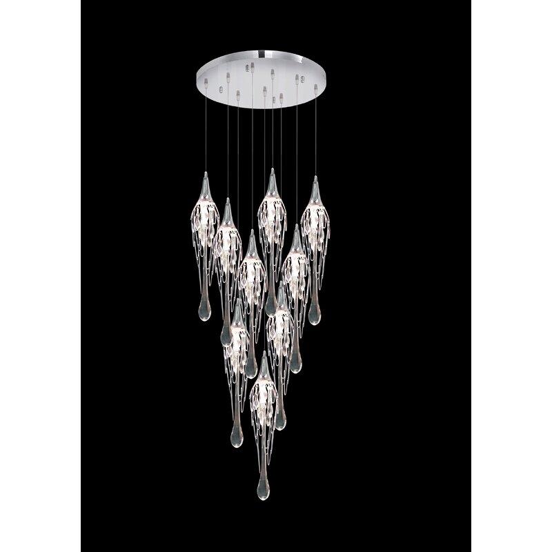 Orren Ellis Harbor 9-Light Crystal Chandelier