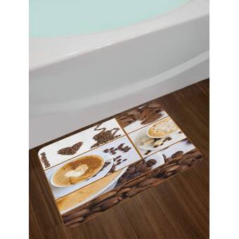 East Urban Home Coffee Themed Brown Kitchen Bath Rug Wayfair
