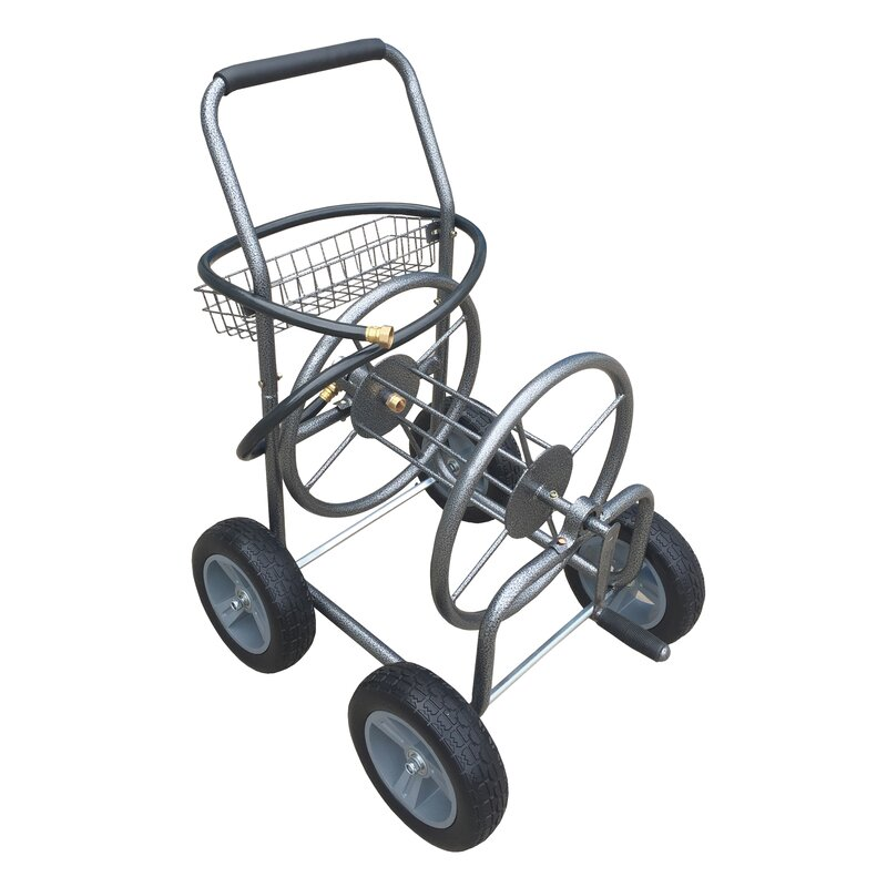 Outdoor Hose Reel Cart  sc 1 st  Wayfair & Backyard Expressions Outdoor Hose Reel Cart | Wayfair