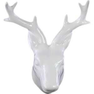 Ceramic Deer Head Wall Decor