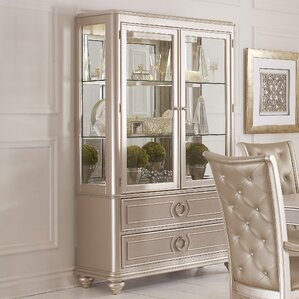Banyan Lighted China Cabinet by House of Hampton