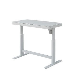 modern full glass desk. Adjustable Standing Desk Modern Full Glass