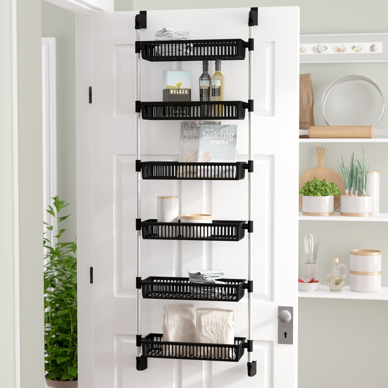 Rebrilliant Prestridge Overdoor 6 Shelf Cabinet Door Organizer