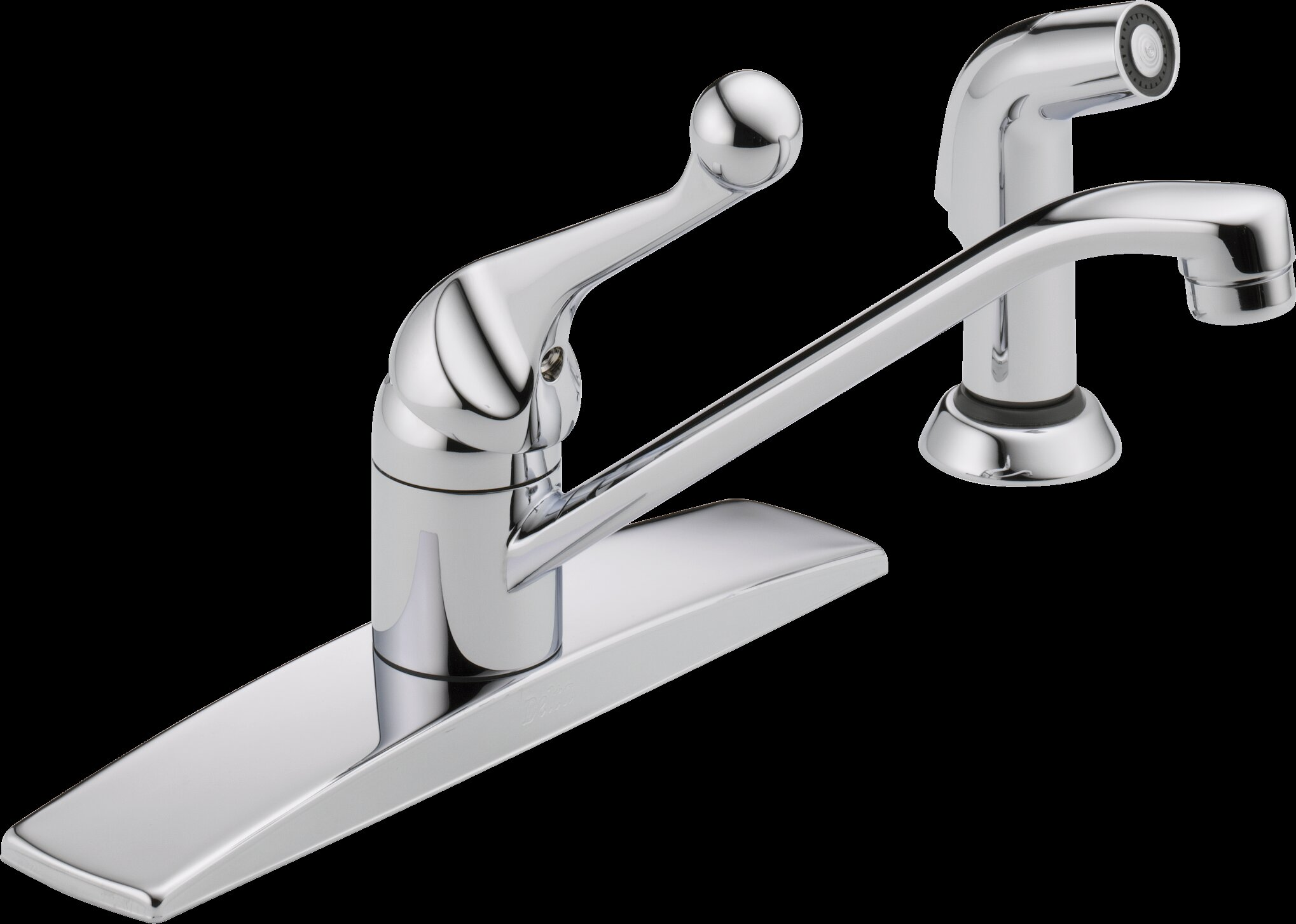 Delta Single Handle Kitchen Faucet with Side Spray | Wayfair