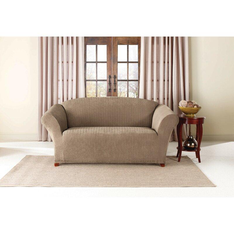 Sure Fit Stretch Pinstripe Box Cushion Sofa Slipcover Reviews