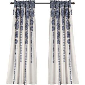 Nemeara Ikat Semi Opaque Curtain Panels (Set Of 2)