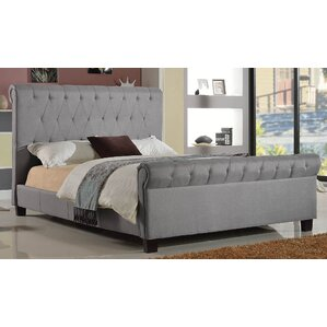 Queen Upholstered Platform Bed by Brassex
